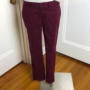 Banana Republic Ryan Fit Maroon Pants chinos